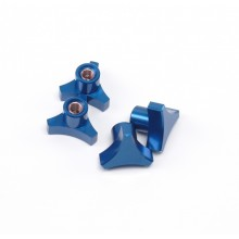 5MM 3 Spoke Hub Nuts, Blue, T/E-MAXX and others