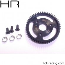 Hot Racing  Silver 54 Tooth 32 Pitch, 0.8M Steel Spur Gear, Traxxas