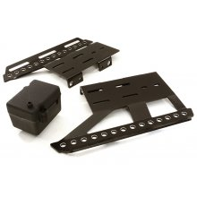 Integy Alloy Side Plates, Side Steps & Plastic Receiver Box for Axial 1/10 SCX10 II- Black