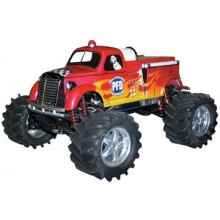 PAR10116 Maxx Fire Truck Body w/decals, E/T-Maxx