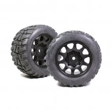 Power Hobby Raptor XL Belted Tires, w/ Viper Wheels, for Traxxas X-Maxx 8S (2pcs)