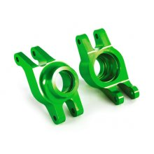 Carriers, stub axle (green-anodized 6061-T6 aluminum) (rear) (2)