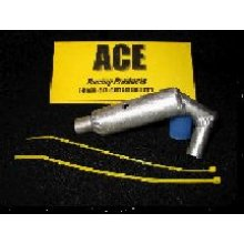 ACEB17S  Outlaw Race Pipe, Orig T-Maxx, SILVER